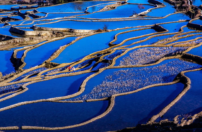 Aichun Village and Aichun Hani Rice Terraces in Yuanyang County, Honghe