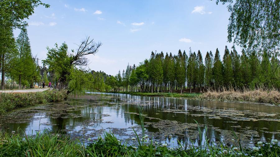Dongdahe Wetland Park in Jinning District, Kunming