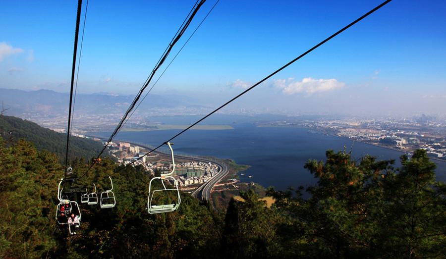 Dragon Gate Cableway of Western Hills in Kunming