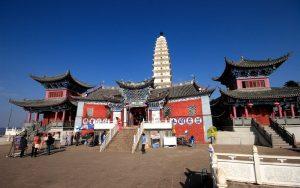 Golden Summit Temple of Jizu Mountain in Binchuan County, Dali