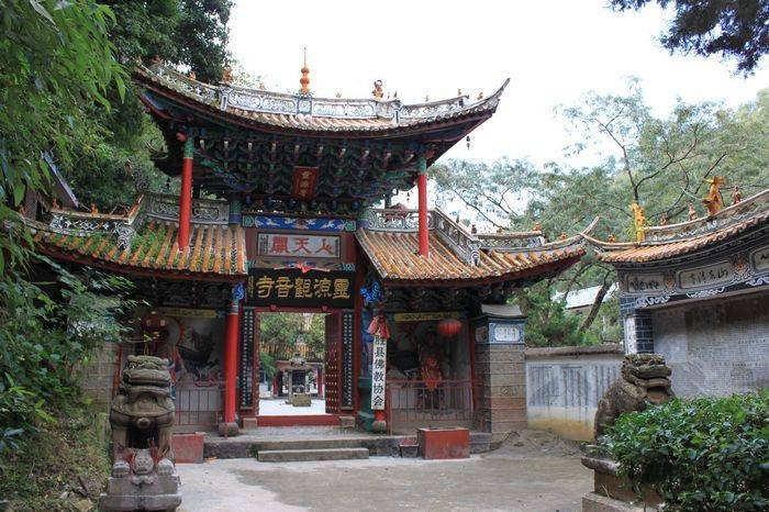 Guanyin Pavillion and Lingyuanqing Valley in Yongsheng County, Lijiang