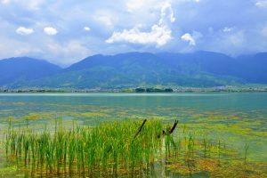 Haishe (Tongue of Erhai Lake) Park of Erhai Lake in Dali City