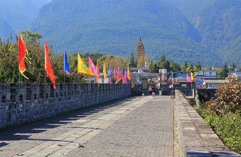 Hongsheng Temple and Pagoda in Dali City