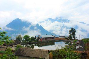 Laomudeng Village in Fugong County, Nujiang