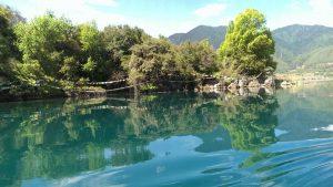 Liwubi Island of Lugu Lake in Lijiang