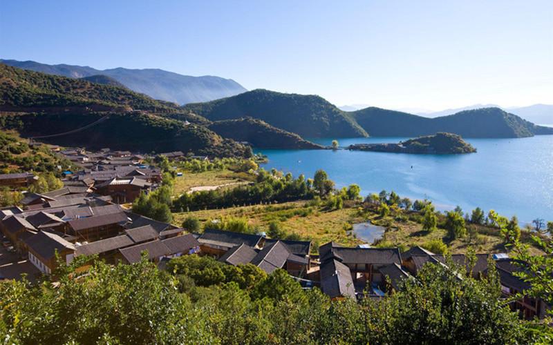 Luoshui Village of Yongning Town in Ninglang County, Lijiang