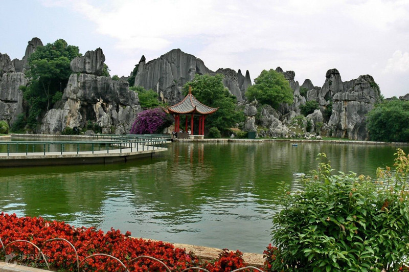 Moon Lake in Stone Forest, Kunming