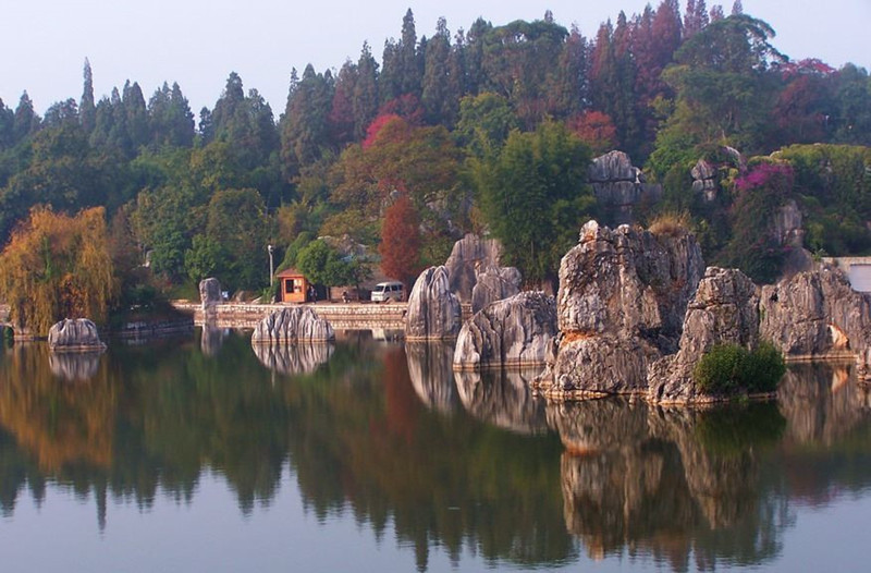 Moon Lake in Stone Forest, Kunming-02
