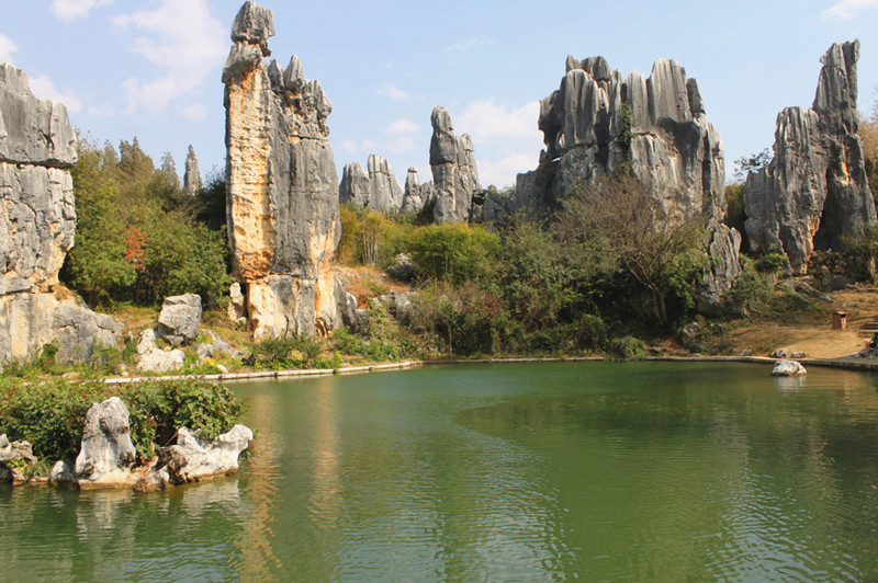 Moon Lake in Stone Forest, Kunming-04