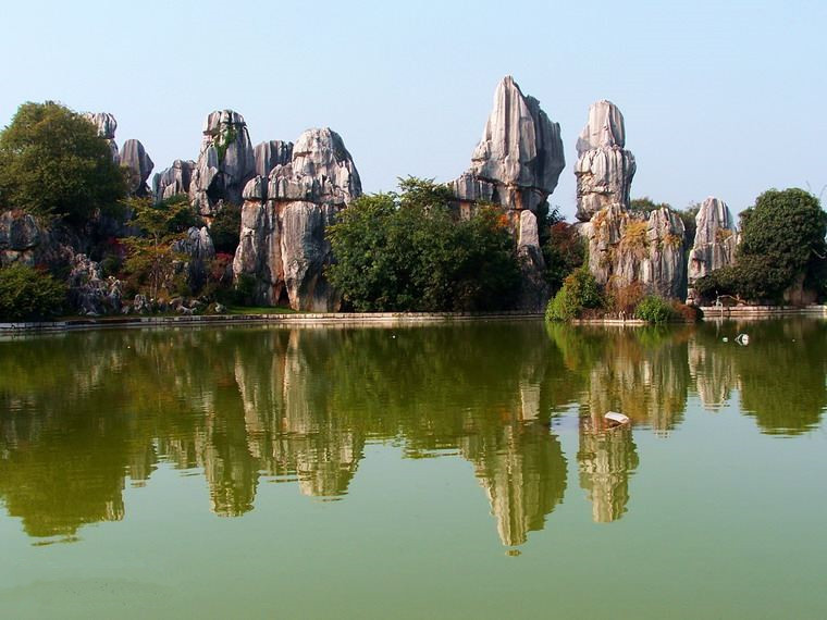 Moon Lake in Stone Forest, Kunming-05