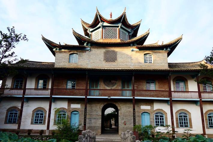 Qihe Tower in Shiping County, Honghe