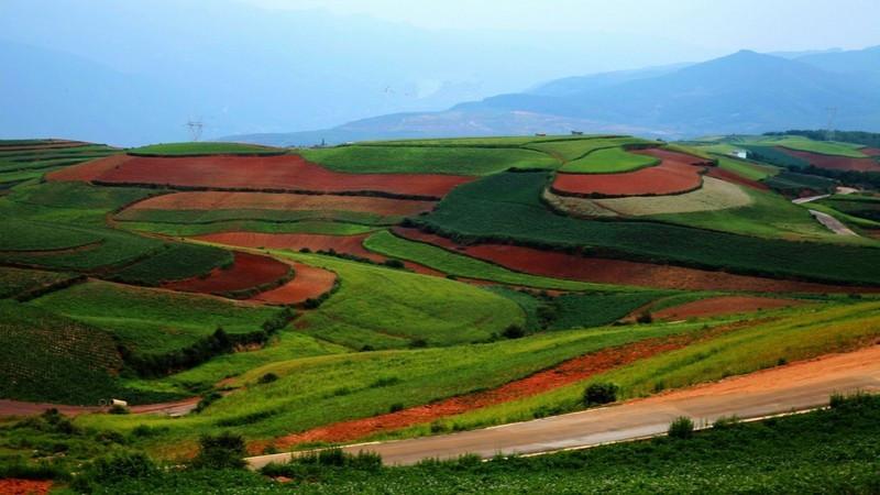 Shuipingzi Moon Rice Terraces of Dongchuan Red Land, Kunming