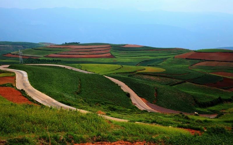 Shuipingzi Terraced Fields of Dongchuan Red Land, Kunming