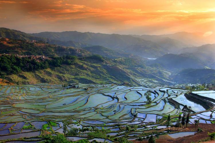 Tasa Rice Terraces in Honghe County, Honghe