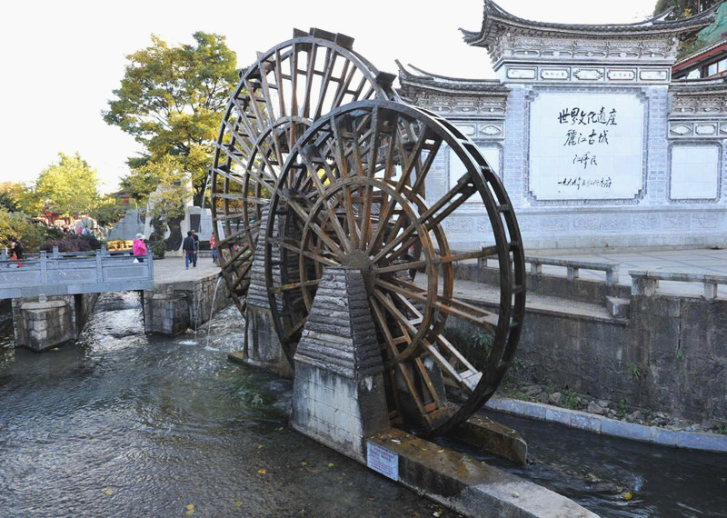 The Giant Water Wheels in Lijiang Old Town