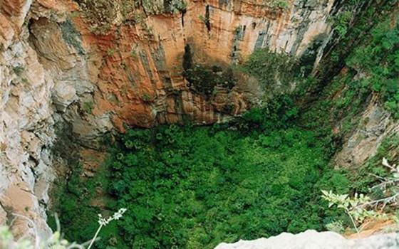 Tiankeng Sinkhole in Zhanyi District, Qujing