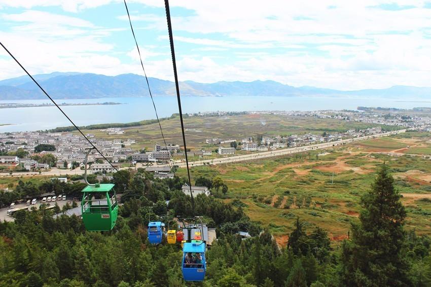 Tianlongdong Cableway of Cangshan Mountain in Dali City