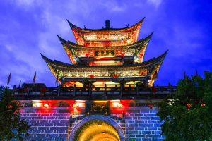 Wuhua Tower in Dali Old Town