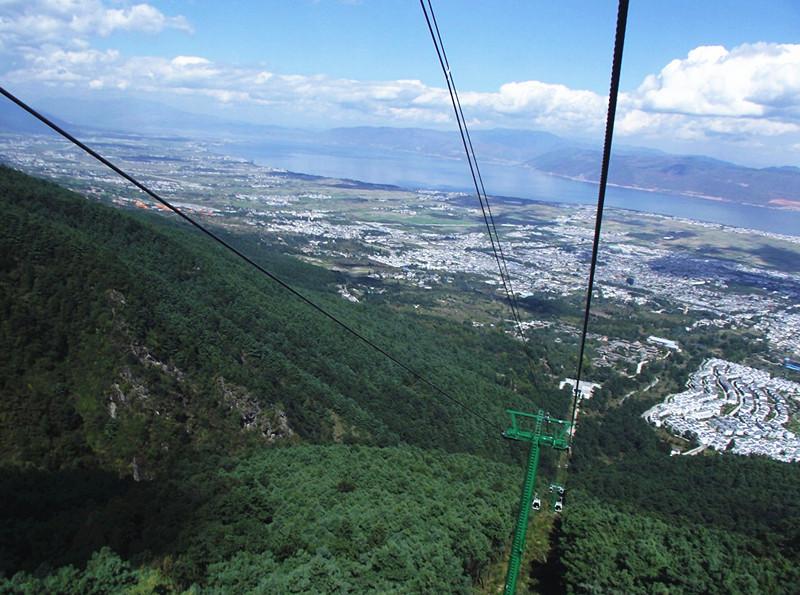 Ximatan Cableway (Dasuodao) of Cangshan Mountain in Dali City