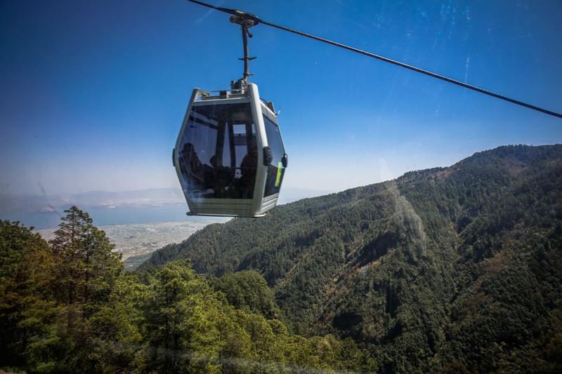 Zhonghe Cableway (Xiaosuodao) of Cangshan Mountain in Dali City