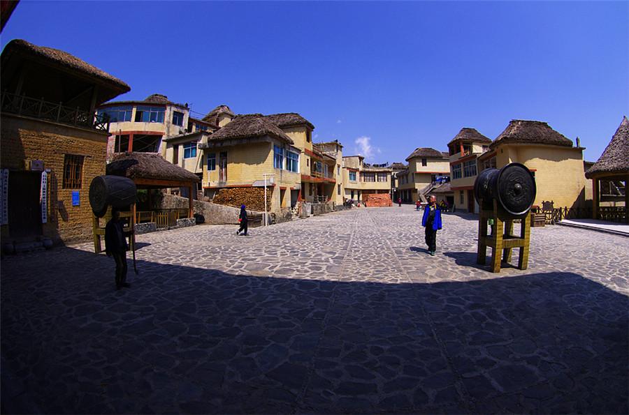 Qingkou Hani Ethnic Village in Yuanyang County, Honghe