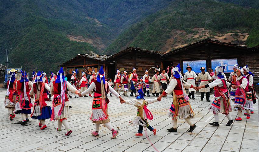 Tongle Village of Yezhi Town in Weixi County, Diqing