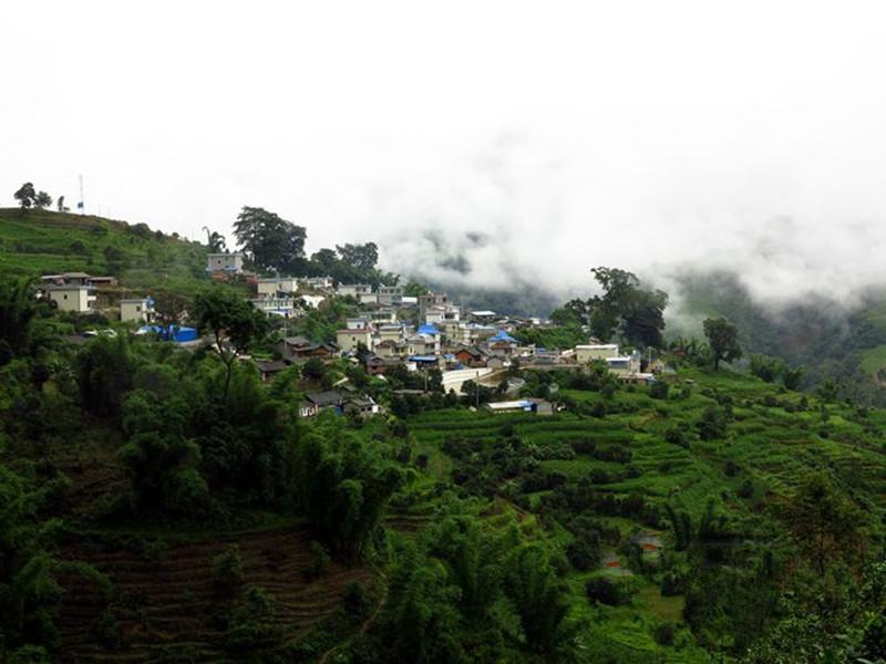 Bingdao Village in Shuangjiang County, Lincang
