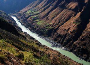 Lancang-Mekong River Meili Grand Canyon in Deqin County, Diqing