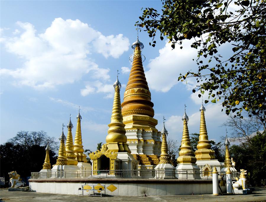 Jiele Great Golden Pagoda in Ruili City, Dehong