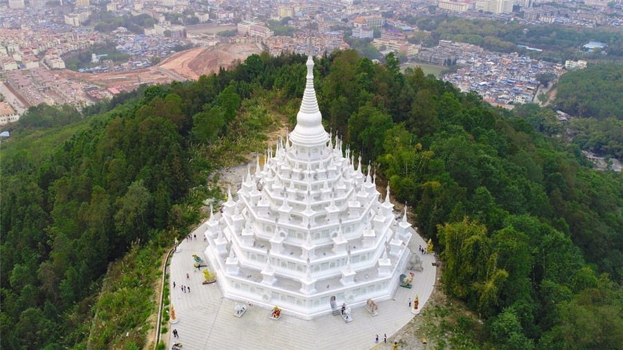 Menghuan Silver Pagoda in Mangshi City, Dehong
