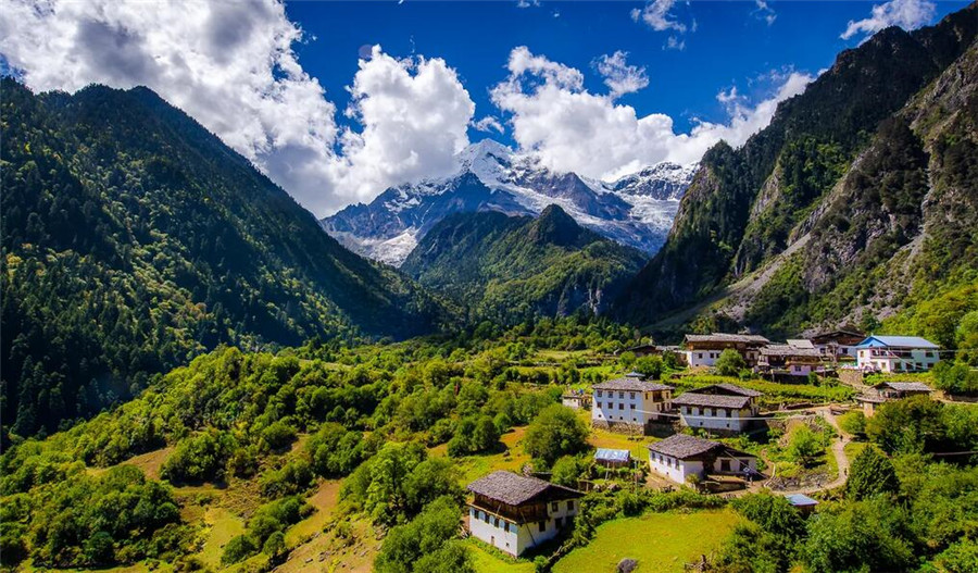 The Upper Yubeng Village in Deqin County, Diqing