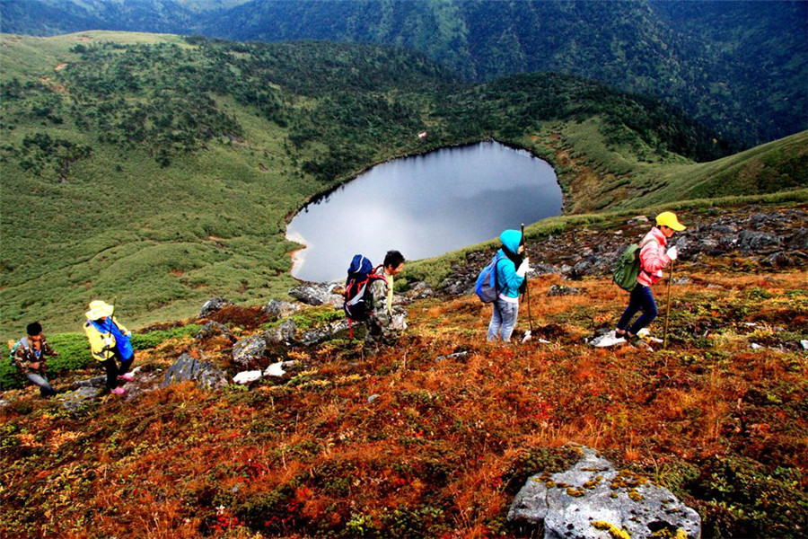 Tingming Lake in Lushui County, Nujiang