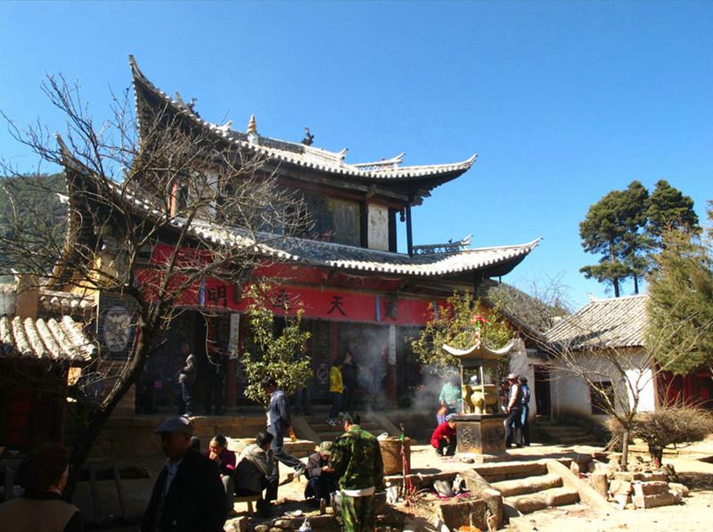 Baoxiang Hanging Temple in Jianchuan County, Dali