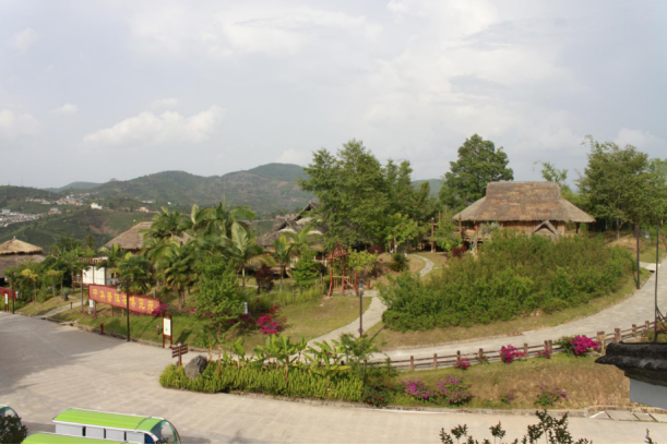 Ethnic Villages of China Puer Tea Exhibition Garden in Puer City