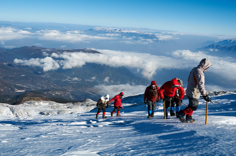 Camp 1 at 4800 Meters of Haba Snow Mountain in Shangri-La, Diqing