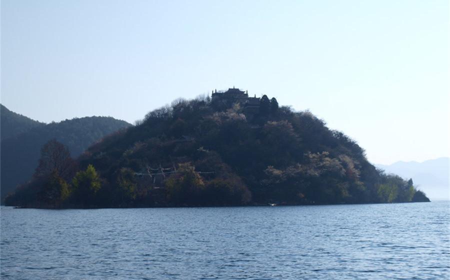 Heiwawu Island of Lugu Lake in Lijiang