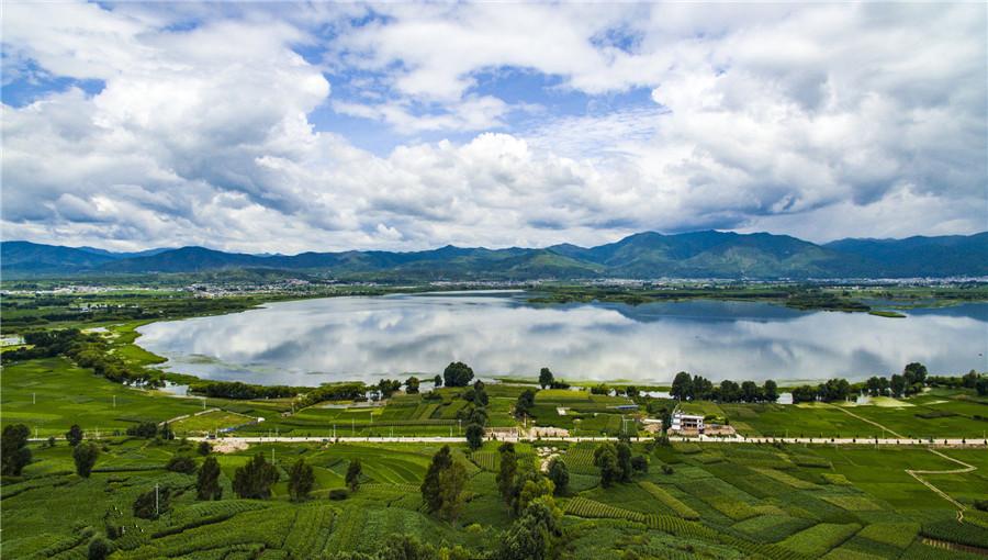 Jianhu Lake Wetland in Jianchuan County, Dali