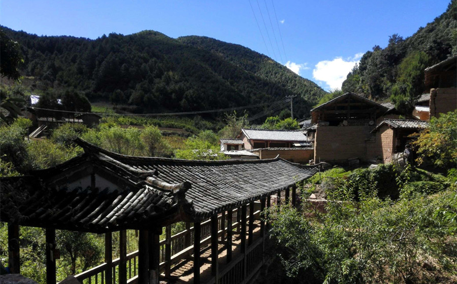 Mapingguan Village of Shaxi Old Town in Jianchuan County, Dali