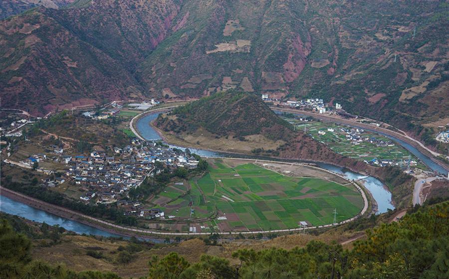 Pijiang River in Yunlong County, Dali