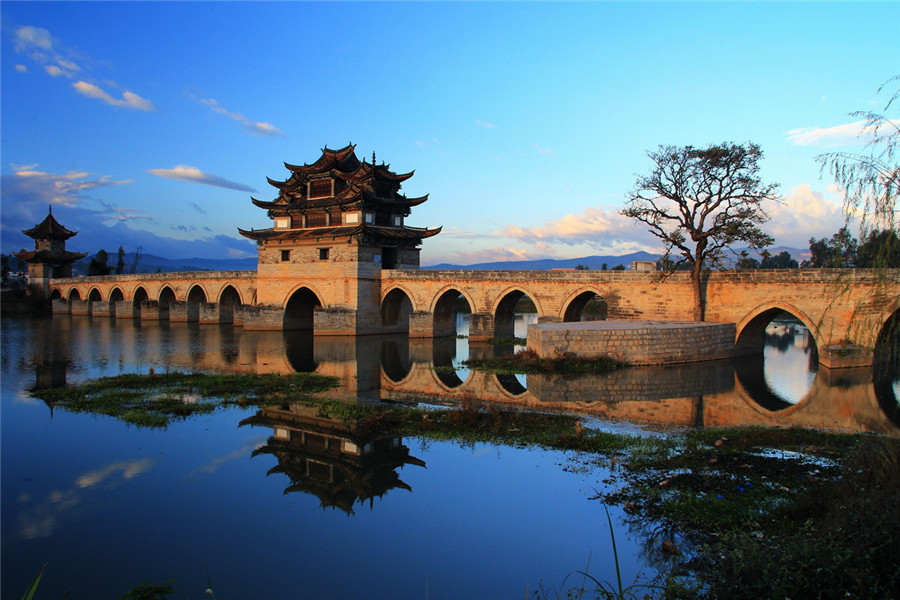 Double Dragons Bridge in Jianshui County, Honghe