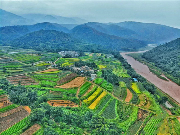 Damuyu village in Xinping County of Yuxi, Yunnan