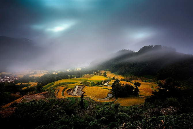 Honghe Hani Rice Terraces in southwest China's Yunnan province