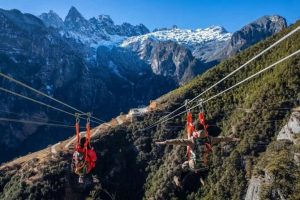 high-altitude zip line service in Shangri-la