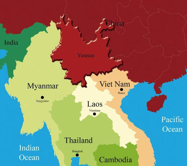 Regional Map of Yunnan