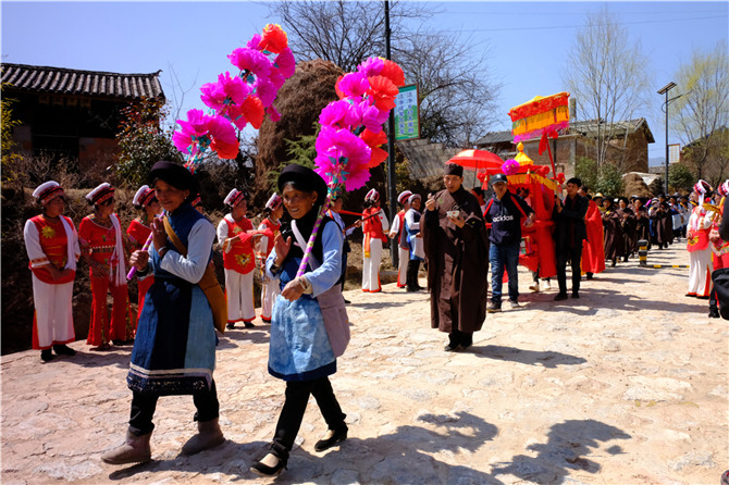 """The folk cultural activity """"Prince Meeting"""" in Jianchuan County of Dali"""