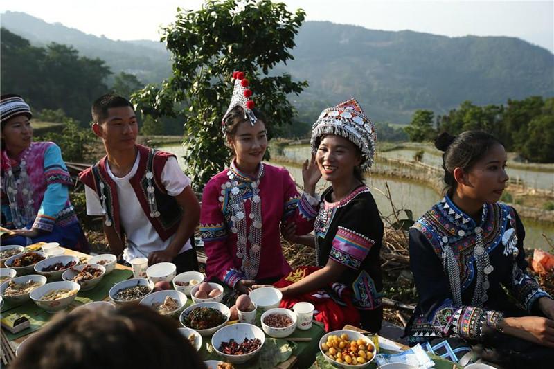 Traditional Kaiyangmen Festival in the Samaba Terraces of Honghe County, Honghe