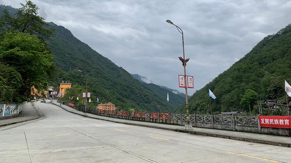 A well-constructed road in Kongdang Village, Dulongjiang Township, southwest China's Yunnan
