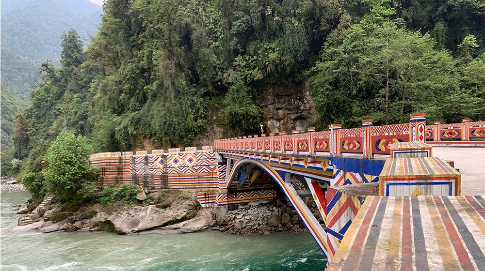 A well-constructed stone bridge in Dulongjiang Township, Yunnan southwest China's Province.