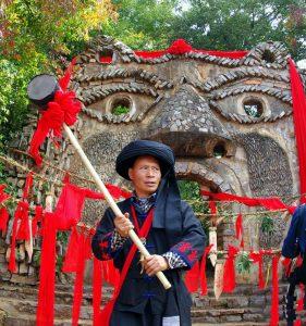 Sani people in Nuohei village of Shilin, Kunming