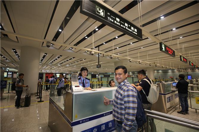 The Belt and Road Lane in Kunming Changrui International Airport